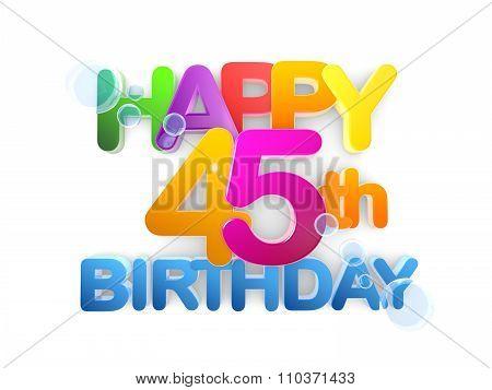 Happy 45Th Title, Birthday Light