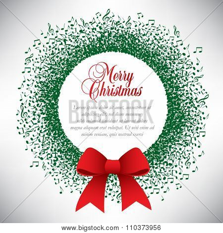 Musical theme Christmas wreath