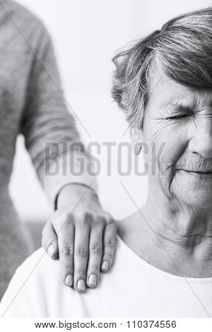 Old Woman Suffering From Illness