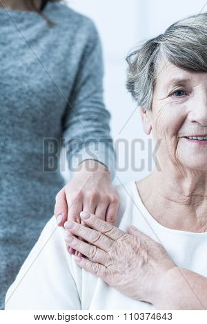 Elderly Female With Positive Attitude