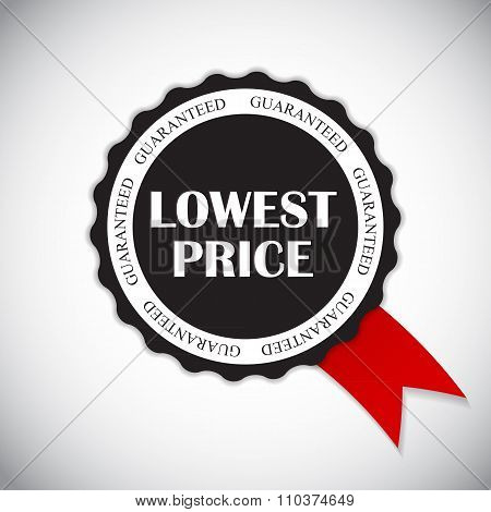 Lowest Price Label Vector Illustration