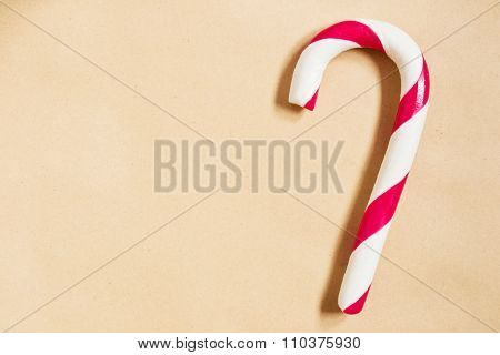 Christmas background with candycane