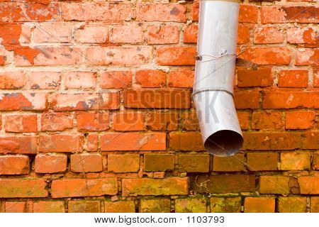 Brick Wall With Spout