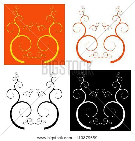 Set of 4 decorative pattern style muzzles.