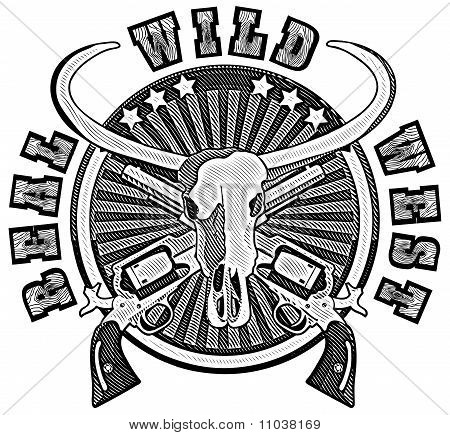 Real Wild West engraving