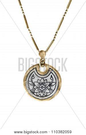 Ethnic Medallion Isolated