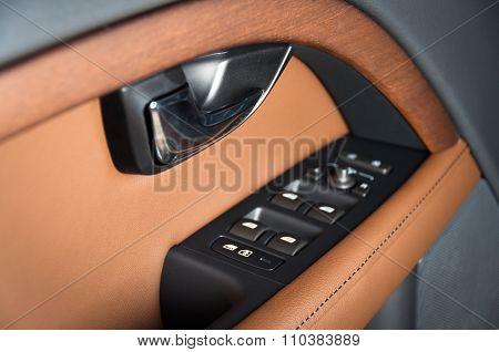 Door of the car, inside panel