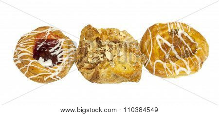 Variety of freshly baked Danishes