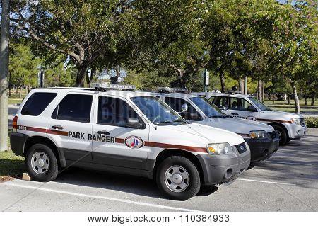 Three Park Ranger Vehicle