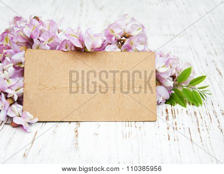 Acacia Flowers Wit Card