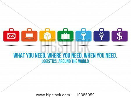 Logistics Services Around The World Design Concept