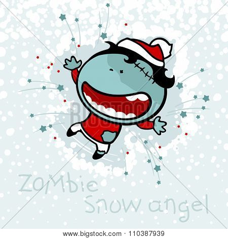 Zombie snow angel (raster version)