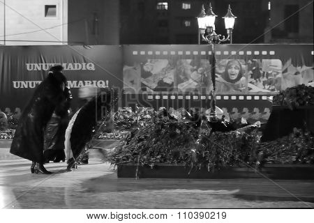 Khojaly mourners on the anniversary of the massacre, in Baku, capital of Azerbaijan