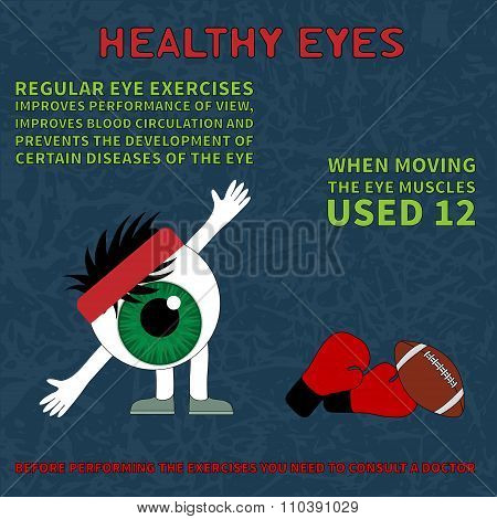 Healthy eye. Information about the benefits of gymnastics for the eyes