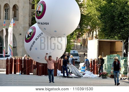 Giant balloons to celebrate anniversary of Heydar Aliyev's birth