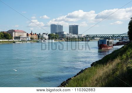 Bratislava Cityscape With High Office Buildings