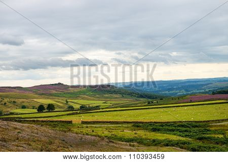 Picturesque View On The Hills Near Hathersage Moor In Peak District National Park