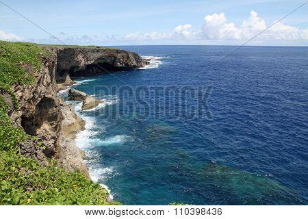Banzai cliff in Saipan North Mariana Islands