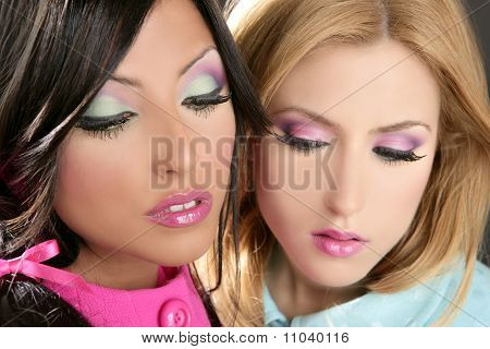 Women Doll 1980S Style Fahion Makeup