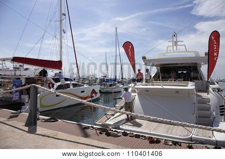 The Yacht Are Moored At Port