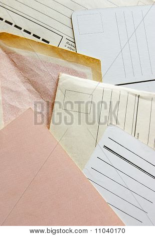 old envelopes and post cards