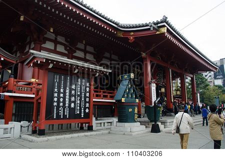 Tourists visit Senso-ji Temple