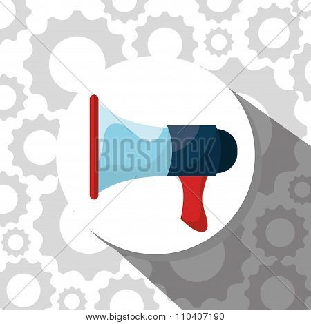 bullhorn megaphone  graphic design