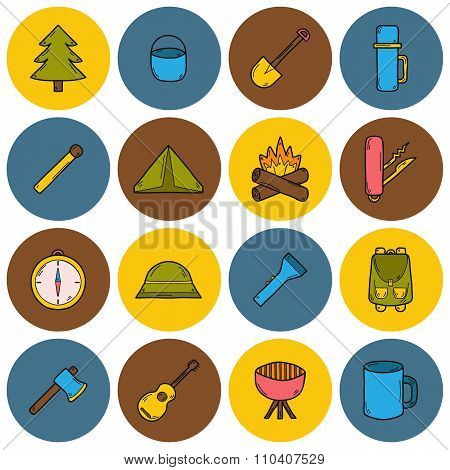 Set of camping icons