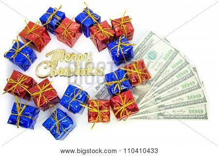 Christmas Parcels With Dollar