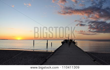 Indian Ocean Sunset with Jetty