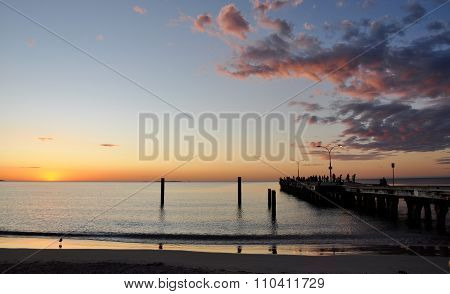 Jetty Perspective: Indian Ocean Sunset