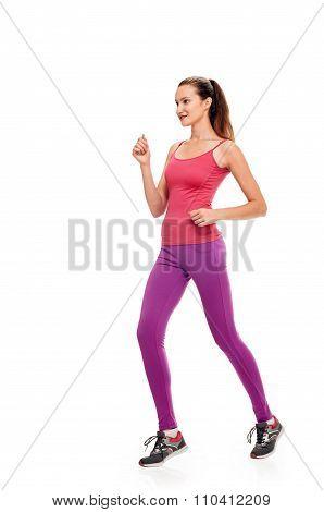 Runner woman full length training