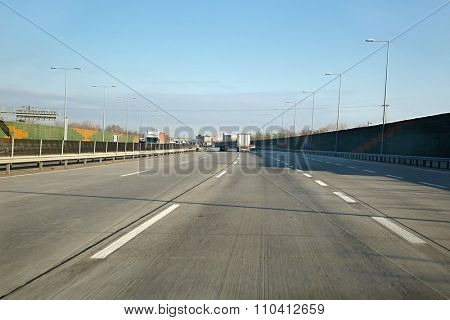 Driving on the highway