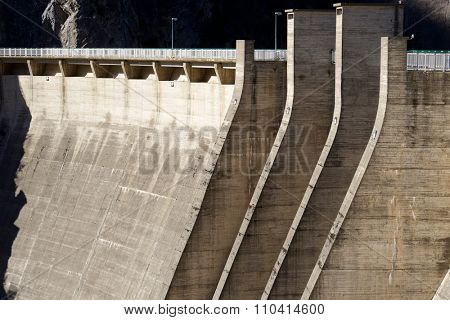 Hydroelectric dam for electricity production, Pyrenees, Spain.