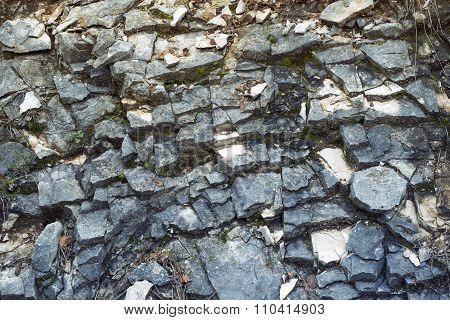 Cracked Slate Rock