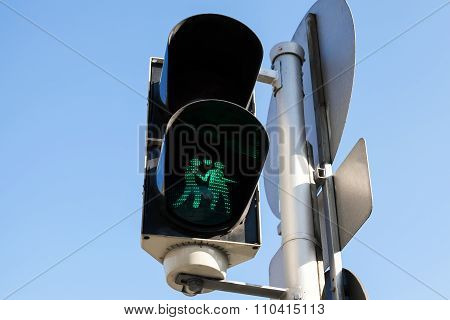 Pedestrian Traffic Lights In Vienna, Austria