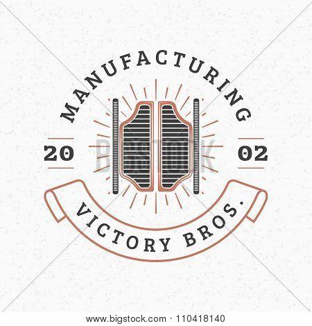 Saloon Door. Vintage Retro Design Elements For Logotype, Insignia, Badge, Label. Business Sign Templ