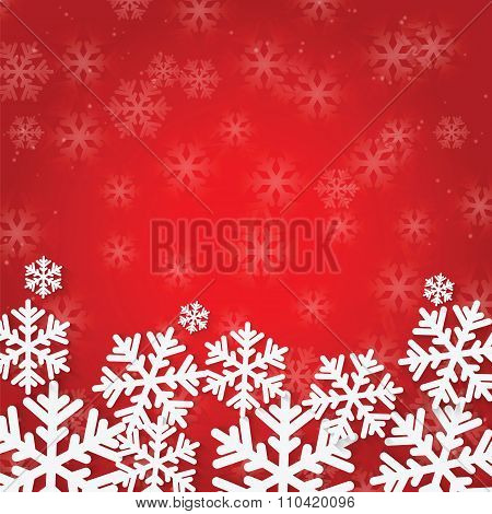 Christmas And New Year's Background With Snowflakes