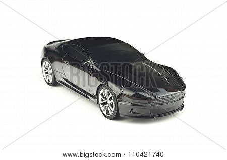 Black Coupe Isolated On White