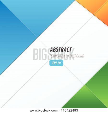 Background Dimension Modern, Blue, Green, Orange Color