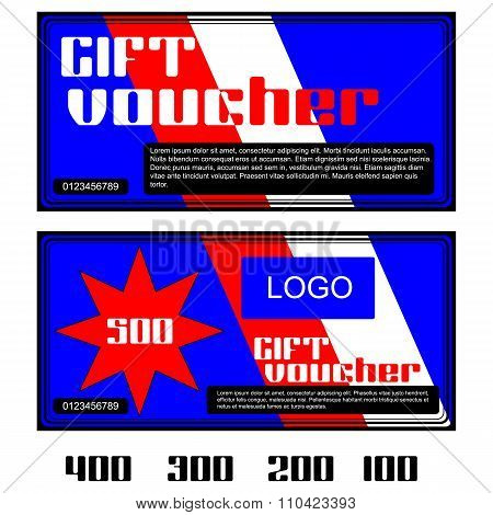 Gift Voucher In Red And White