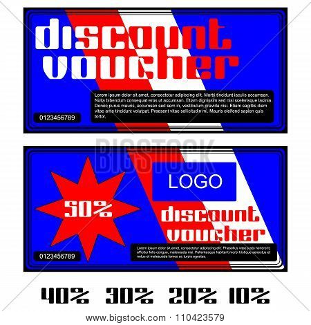 Discount Voucher In Red And White