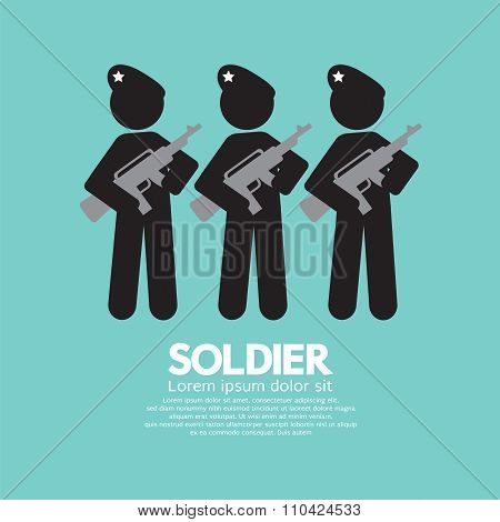 Soldiers With Guns Symbol.