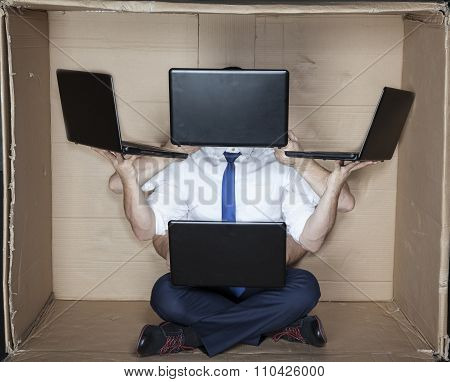 Hacker With Many Hands