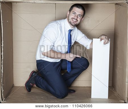 Business Man In The Box Office