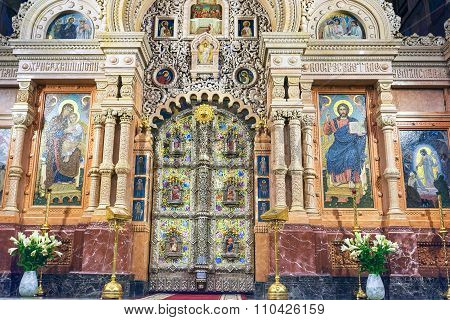 St Petersburg, Russia - November 26, 2015: Interior Of Church Of The Savior On Spilled Blood (cathed