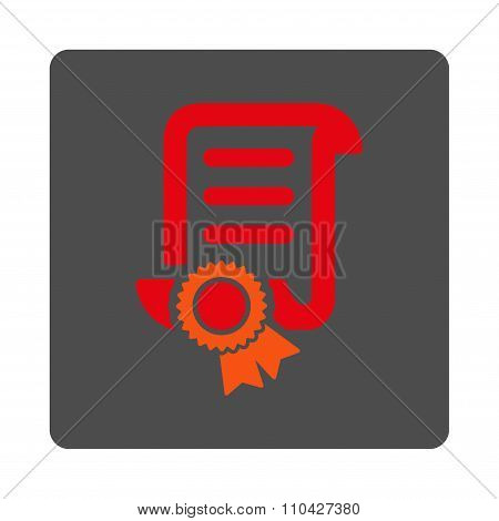 Certified Scroll File Rounded Square Button