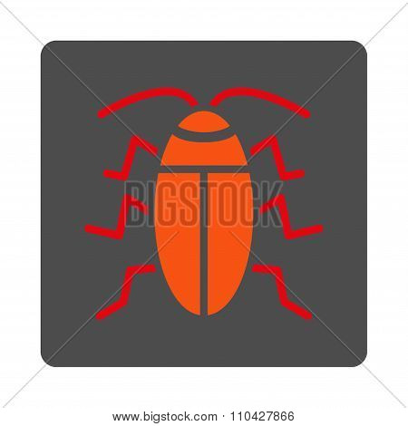 Cockroach Rounded Square Button