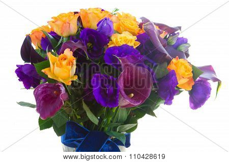 Calla lilly and eustoma flowers