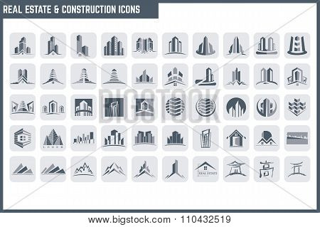 Vector Real Estate & Construction Icon Set